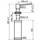 Zeepdispenser | Zeepdispenser mat zwart