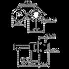 Kiruna inbouw wastafelkraan | antique bronze