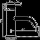 Flow fonteinkraan | Brushed Gun Metal