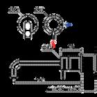 Flow wastafelkraan inbouw 15cm | zwart
