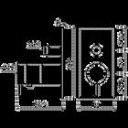 Flow thermostatische inbouwkraan 2-weg rechthoek | chroom