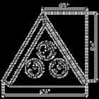 Hoekstopcontact | Zwart